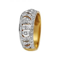 Glossy Finish Elegant Sparkling Diamond Band Ring - RD2
