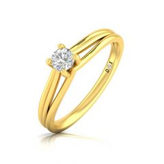 Glittering Four Prong Set Solitaire Ring
