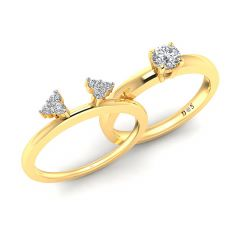 Cluster Hedge Solitaire Insert Ring