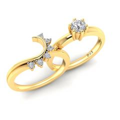 Glowing Arch Solitaire Insert Ring