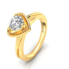 Heart Groove Couple Ring