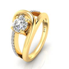 Curled Band Couple Ring