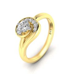 Swirling Stones Women's Diamond Ring