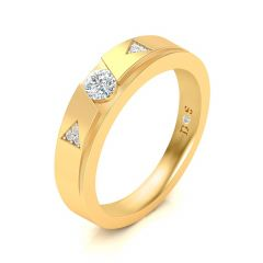 Grooved Girdle Women's Diamond Ring