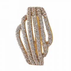 Elegant Sparkling Layer CZ Gold Ring-RG22-150