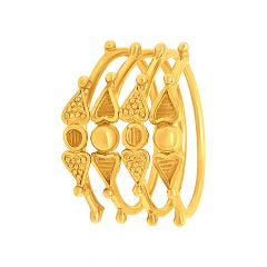 Traditional Spiral Embossed Gold Ring