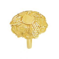 Blooming Traditional Floral Gold Ring
