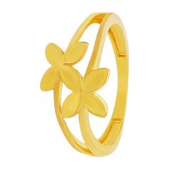 Charming Fluttering Butterfly Gold Ring