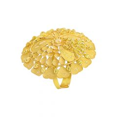 Ceremonial Blossom Floral Gold Ring