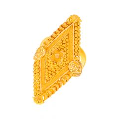 Traditional Embossed Cocktail Gold Ring