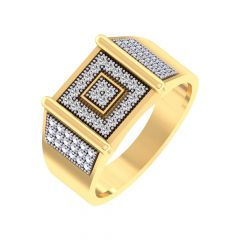 Glittering Pave Prong Set Diamond Ring For Hom