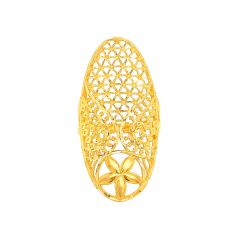 Classy Cutout Floral Gold Ring