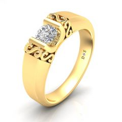 S Crown Couple Solitaire Ring For Him