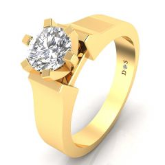 0.30 Carats Six Prong Setting Solitaire Ring For Him