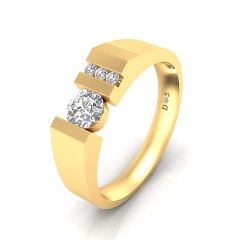 0.23 Carats Prong Setting Solitaire Ring For Him