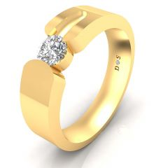 0.30 Carats Prong Setting Solitaire Ring For Him