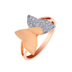 Elegant Cluster Charm Butterfly Gold Ring