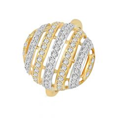 Sparkling Oval Cutout Daimond Ring
