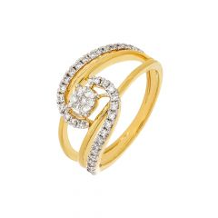 Sizzling Cluster Wrap Diamond Ring