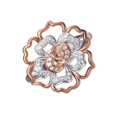 Bloom Layered Floral Diamond Ring
