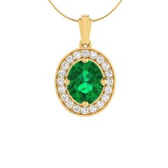 Sparkling Diana Set  Semi Precious Stone With Cluster Diamond Pendants - SDL14488-CSDI