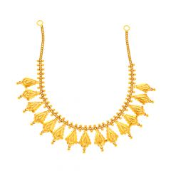 Traditional Textured Gold Necklace Set