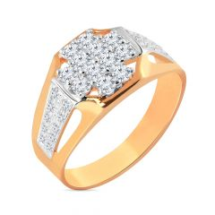 Traditional Cluster Diamond Men's Ring