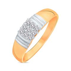 Traditional Layared Nine Stone Men's Diamond Ring