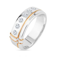 Designer White Gold Men's Diamond Ring