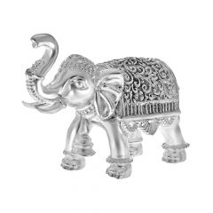 Antique Silver Elephants (Set Of 2 )
