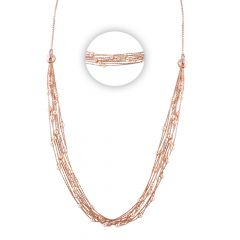 Glossy Multilayer Pearl Rose Chain - SM-CHN175