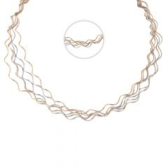 Elegant Spiral Wave Layer 18kt Gold Chain - SM-CHN326