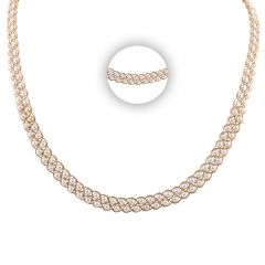 Elegant Eternity Pearl Gold Chain - SM-CHN331