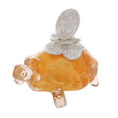 Turtle Glass With Lakshmi Silver Coin