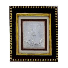 Frame With Silver Lord Sai Baba