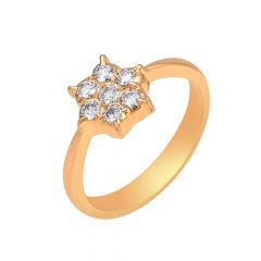 Scintillating Floral Diamond Ring
