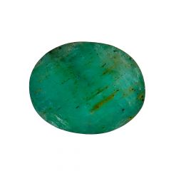 Natural 6.1 Cts Oval Faceted Emerald Gemstone