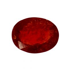 Natural 5.9 Cts Oval Faceted Hessonite Garnet Gemstone