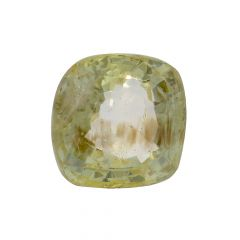 Natural 7.4 Cts Cushion Faceted Yellow Sapphire Gemstone