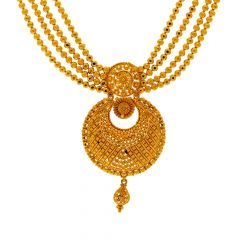 Traditional Embossed Gold Necklace