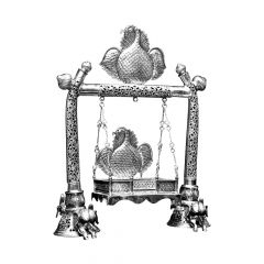 Peacock Cradle Silver Artifact
