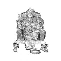 Ganesha Idol Silver Artifact