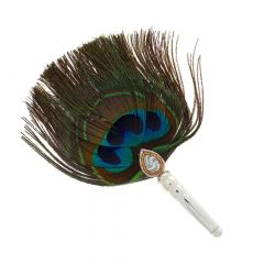 Glossy Finish Pichi Peacock Feather Silver Artifact