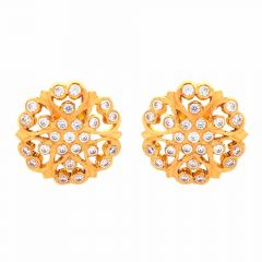 Sparkling Floral Earring