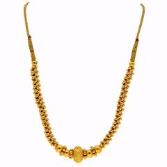 Glossy Finish Thushi Gold Necklace-TH254