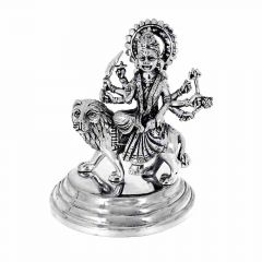 Silver 925 Durga Mata Antique Artifact Murti