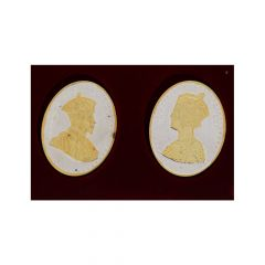 Silver 999 King Queen Oval Coin(Set of 2)