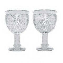Silver 925 Hammer Finish Wine Glasses (Set of 2) Artifact
