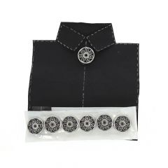 Silver 925 Clipon Buttons With CZ (Set of 7) Accessories