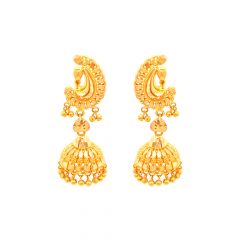 Traditional Textured Gold Jhumki
